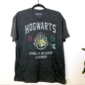 3/$18 Unisex Harry Potter Hogwarts Graphic Tee